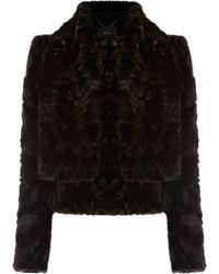 Coast Coast Sophia Faux Fur Jacket Black