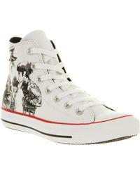 Converse All Star Hi Gorillaz White Print - Lyst