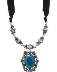 Lanvin Crystal Small Barbara Pendant Necklace - Lyst