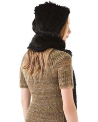 Rachel Zoe - Rabbit Fur Hooded Scarf - Lyst