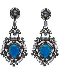 Lanvin Crystal Barbara Earrings - Lyst