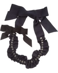 Lanvin Grosgrain Ribbon Necklace with Crystals - Lyst