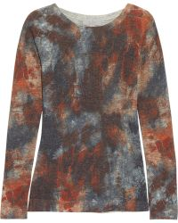 Mulberry - Tiedye Tiger Printed Woolblend Sweater - Lyst