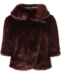 Ted Baker Shudda Faux Fur Jacket brown - Lyst