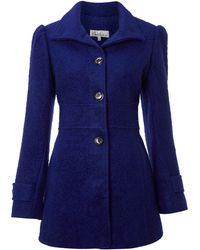 Kenneth Cole - Wool Blend Single Breasted Coat - Lyst
