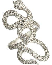 Repossi - Diamond Interlaced Snake Ring - Lyst