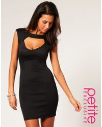 ASOS Collection Asos Petite Exclusive Seam Detail Cut Out Front Dress - Lyst