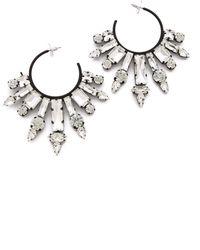 Noir Jewelry Nightfall Hoop Earrings - Lyst