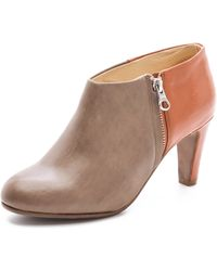 See By Chloé Two Tone Mid Heel Bootie - Lyst
