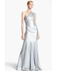 Donna Karan New York Collection One Shoulder Sequin Gown - Lyst