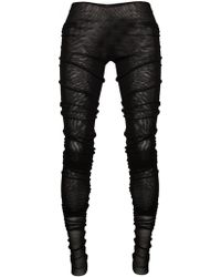 Jean Paul Gaultier Extra Long Mesh Leggings Black black - Lyst
