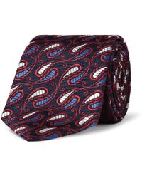 Turnbull & Asser Patterned Paisley Wovensilk Tie - Red