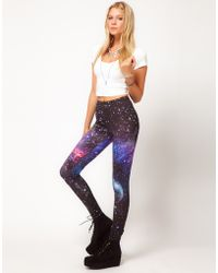 ASOS Collection Asos Leggings in Photographic Galaxy Print multicolor - Lyst