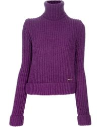 DSquared² Chunky Knit Ribbed Sweater - Lyst