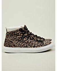 Diemme Mens Marostica Mid Leopard Print Pony Hair Sneaker - Lyst
