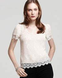 Madison Marcus Blouse Short Sleeve Lace - Lyst