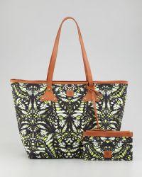 McQ by Alexander McQueen Butterflyprint Canvas Shopper Tote Bag - Lyst