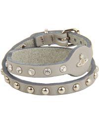 Vivienne Westwood Thin Leather Cuff - Lyst