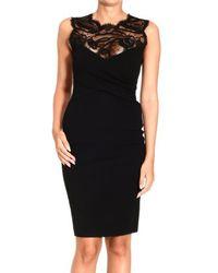 Emilio Pucci Sleeveless Milan Stitch Lace Dress - Lyst