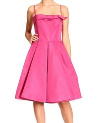 RED Valentino Bow Strapless Dress - Lyst