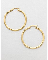 Roberto Coin 18K Yellow Gold Hoop Earrings/1.4 - Lyst