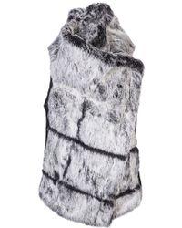 Helmut Lang Flux Fur Vest black - Lyst