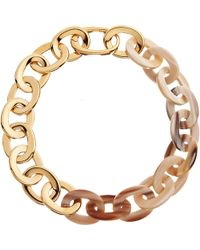Maiyet - Natural Horn Gold Oval Link Short Necklace - Lyst