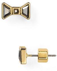 Marc By Marc Jacobs Bow Stud Earrings - Lyst