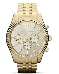 Michael Kors Lexington Watch, 45Mm - Lyst