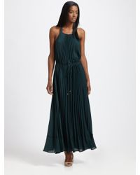 Rebecca Taylor Pleated Gown - Lyst
