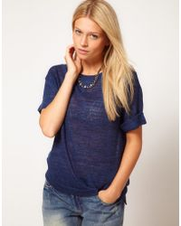 ASOS Collection Asos Tshirt in Knitted Yarn - Lyst