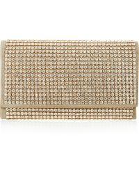 Jil Sander Marivaux Crystal-Embellished Brushed Leather Clutch - Lyst