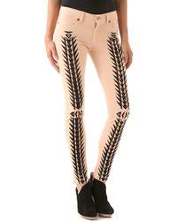 Just Cavalli Tribal Print Skinny Jeans - Lyst