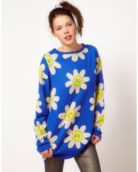 Lazy Oaf - Flowers Knitted Jumper - Lyst
