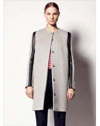 Sophie Hulme - 3d Sleeve Wool Leather Coat - Lyst