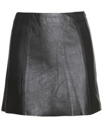 T By Alexander Wang Leather Mini Skirt black - Lyst