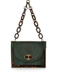 Tory Burch Lizardeffect Brushed Leather Shoulder Bag - Lyst