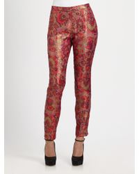 Wren - Slim Brocade Pants - Lyst