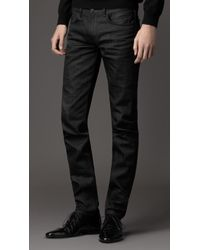 Burberry Shoreditch Black Skinny Fit Jeans - Lyst