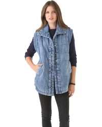 Citizens of Humanity Cocoon Vest blue - Lyst