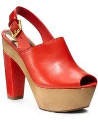 COACH Petrina Clog - Red