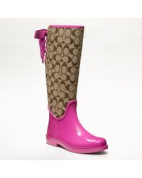 COACH Tristee Rainboot - Pink
