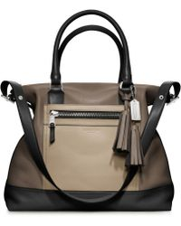 Coach Legacy Colorblock Leather Rory Satchel brown - Lyst