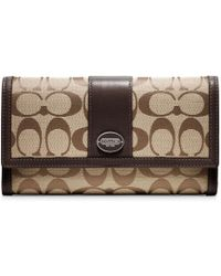 Coach Legacy Signature Checkbook Wallet - Lyst