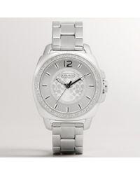 COACH - Coach Boyfriend Crystal Bezel Bracelet Watch - Lyst