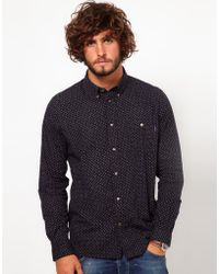Paul Smith Byard Slim-Fit Micro-Paisley Cotton Shirt - For Men blue - Lyst