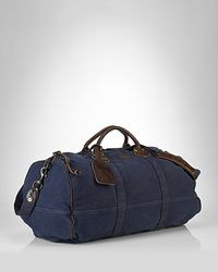 Ralph Lauren Collection Accessories Canvas Bedford Duffle Bag - Blue