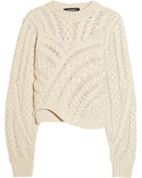 Isabel Marant Versus Cableknit Wool Sweater - Lyst