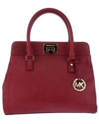 Michael Kors Astrid Tote red - Lyst
