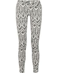 Sass Amp Bide Roll Over Ikat Jeans In Purple Ivory Lyst